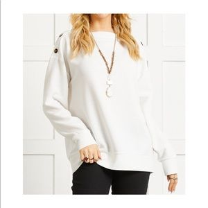 Suzanne Betro • button accent, boatneck tunic